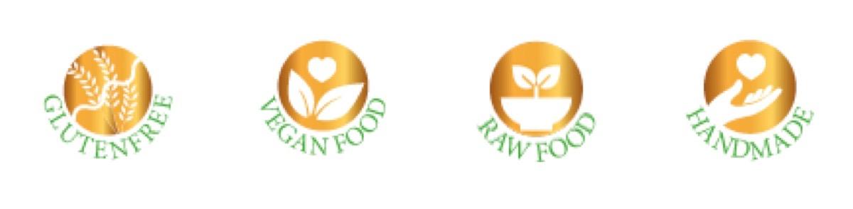 arooga Icons - glutenfree veganfood rawfood handmade